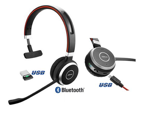 jabra evolve 65  cavo USB e bluetooth