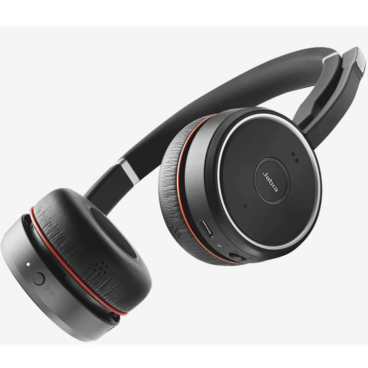 Jabra Evolve 75 Ms Duo Wireless Bluetooth Headset: Jabra Evolve 75 Duo Con Base Ricarica E Link 370