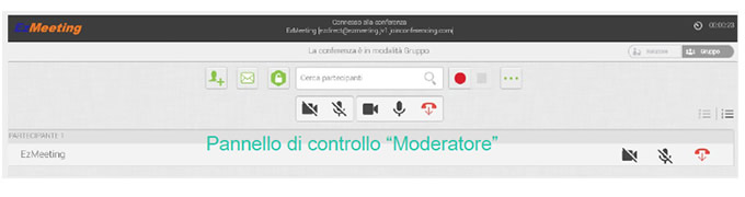 webmeeting cloud moderatore