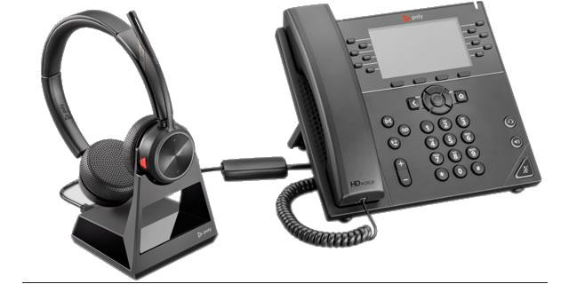 poly savi 7220 cuffia wireless per  telefono