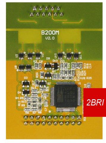 scheda per 2 linee ISDN yeastar