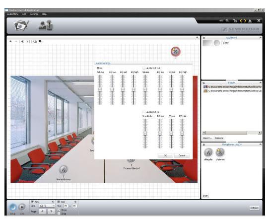 software controllo sennheiser adn per sala conferenze