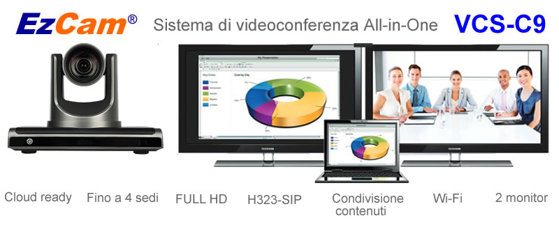 Sistema di videoocnferenza all in one vcs-c9