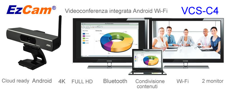 Videoconferenza android wifi ezcam vcs-c4
