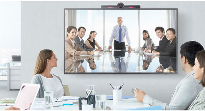 videoconferenza sala riunioni cloud