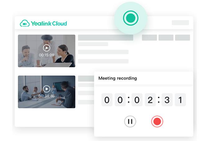 Yealink cloud registrazione della videoconferenza