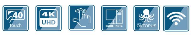 monitor interattivo 55  uhd 4k touch