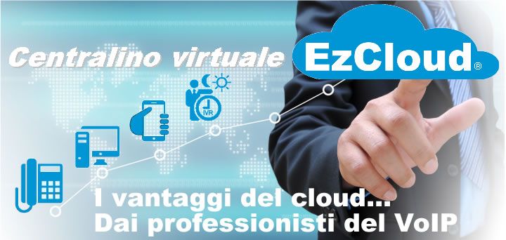 Centralino virtuale ezcloud vantaggi