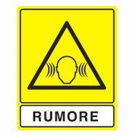 Cartello pericolo rumore