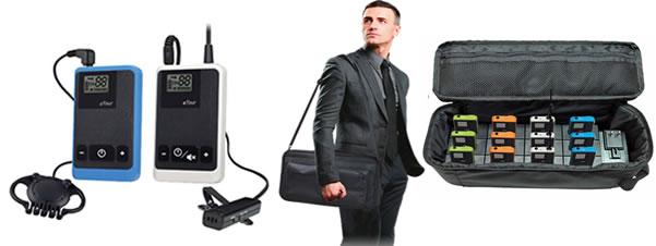 Radioguide wireless con microfono per visite guidate