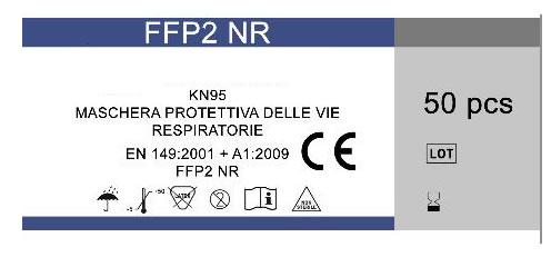 Particolare confezione mascherine ffp2 certificate