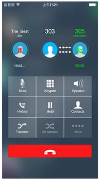 iphone softphone yeastar