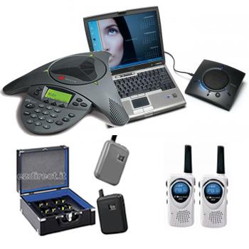 Viva voce per conferenza telefonica audioguide