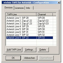 CTI tapi drivers for asterisk
